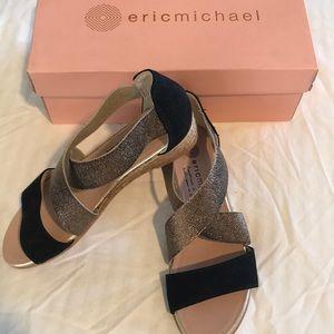 ERIC MICHAEL Nover Mia Sandal metallic low heel 6